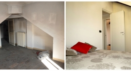 Mansarda: Una camera da letto prima e dopo