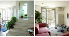 completamente aperta su cucina e terrazzo; scala in marmo per accedere alla zona notte del piano superiore