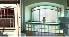 Senza modificare il serramento esterno nel vano scala e' stato creato un bagno annesso all'alloggio