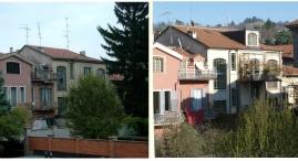 Prima e dopo: veduta da Via Moncalvo