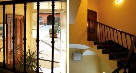 Creata in perfetta armonia con le caratteristiche storiche del fabbricato, per accedere agli appartamenti al fondo del cortile.