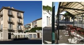 L'ingresso e il dehors da Corso Quintino Sella