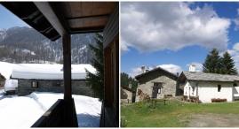 Veduta sulla Frazione di Suisse e la sua piccola chiesa
